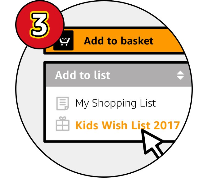 Explore the toys & games on Amazon with your children. Easily track which gifts they'd like by adding each product to your wish list. You can find the 'Add to list' button below the 'Add to basket', be sure to select your 'Kids Wish List 2017' fromt the list.