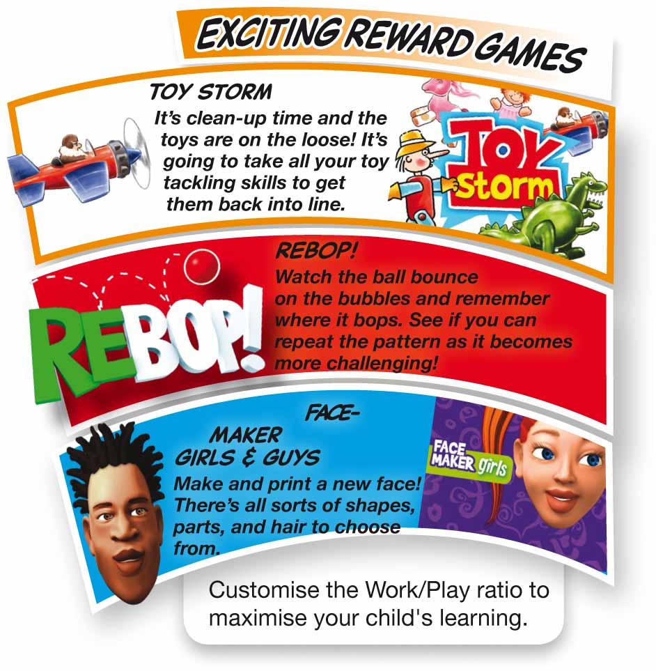 The BRAINtastic Reading Success Reward Games