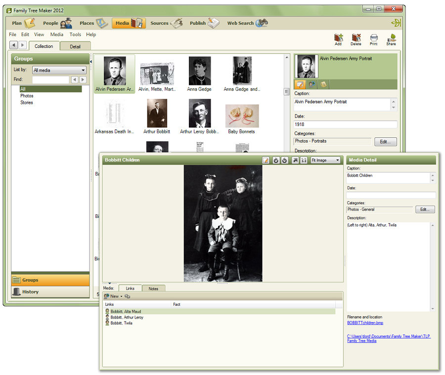 online family tree maker with pictures