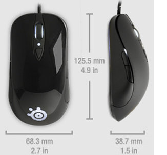 SteelSeries Sensei RAW Mouse Size and Weight
