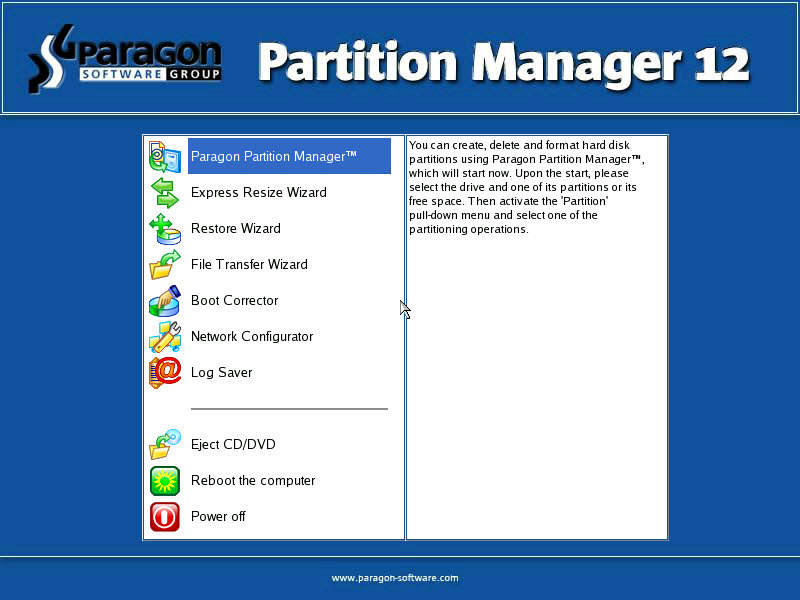 paragon bootmanager