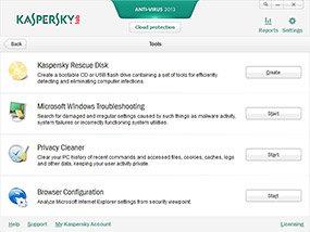 Kaspersky Anti-Virus 2013 Tools
