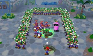 Spawn hundreds of Luigis that mould into different forms to help Mario in the Dream World