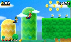 The return of Raccoon Mario gives Mario the ability to fly and access hidden areas