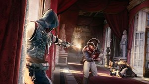 Customise your assassin with weapons, gear, outfit, and skills