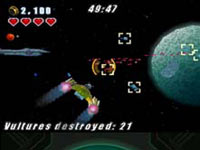 A 3D space battle from LEGO Star Wars III: The Clone Wars DS
