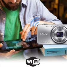 Share photos and videos straight to your smartphone with built-in Wi-Fi.