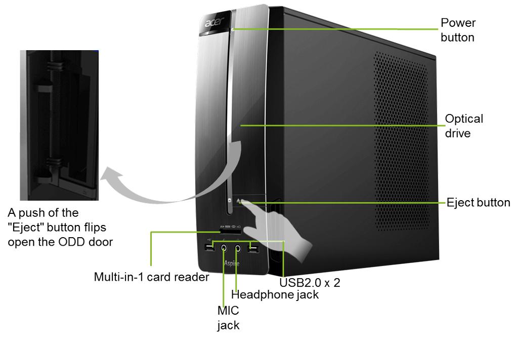 Acer Aspire Xc Desktop Pc Intel Core I5 3330 3ghz