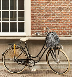 Basil Rear Milkbottle Bike Basket W Nylon Grip Handle Black