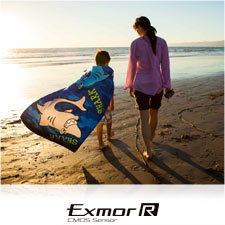 "Sunrise or sunset, capture every detail with the Exmor Râ""¢ CMOS sensor."