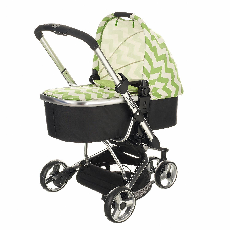 Obaby Chase 3 Wheeler ZigZag Stroller (Lime): Amazon.co.uk ...