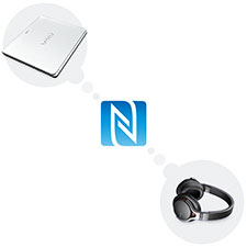 One-touch listening with NFC