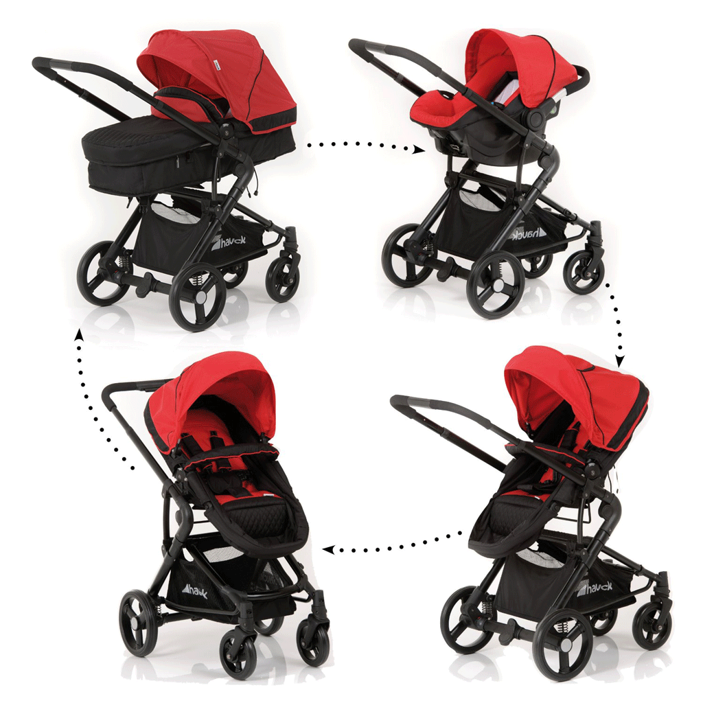hauck colt all in one travel system caviar capri amazon. Black Bedroom Furniture Sets. Home Design Ideas