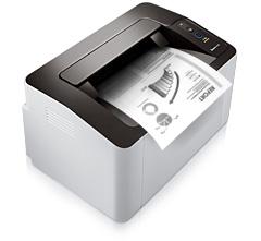 The Samsung Xpress M2022 prints a document