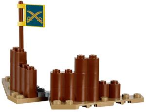 Defence wall and flag