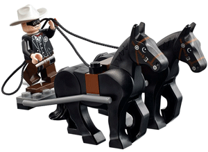 The Lone Ranger and detachable horses