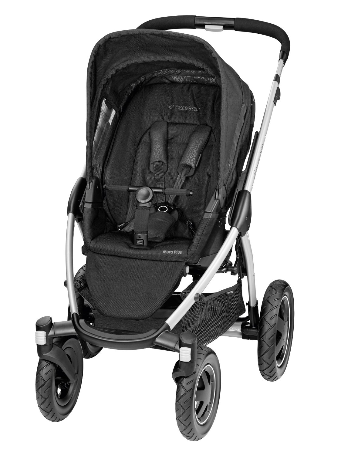 maxi cosi mura plus 4 wheel pushchair modern black baby. Black Bedroom Furniture Sets. Home Design Ideas