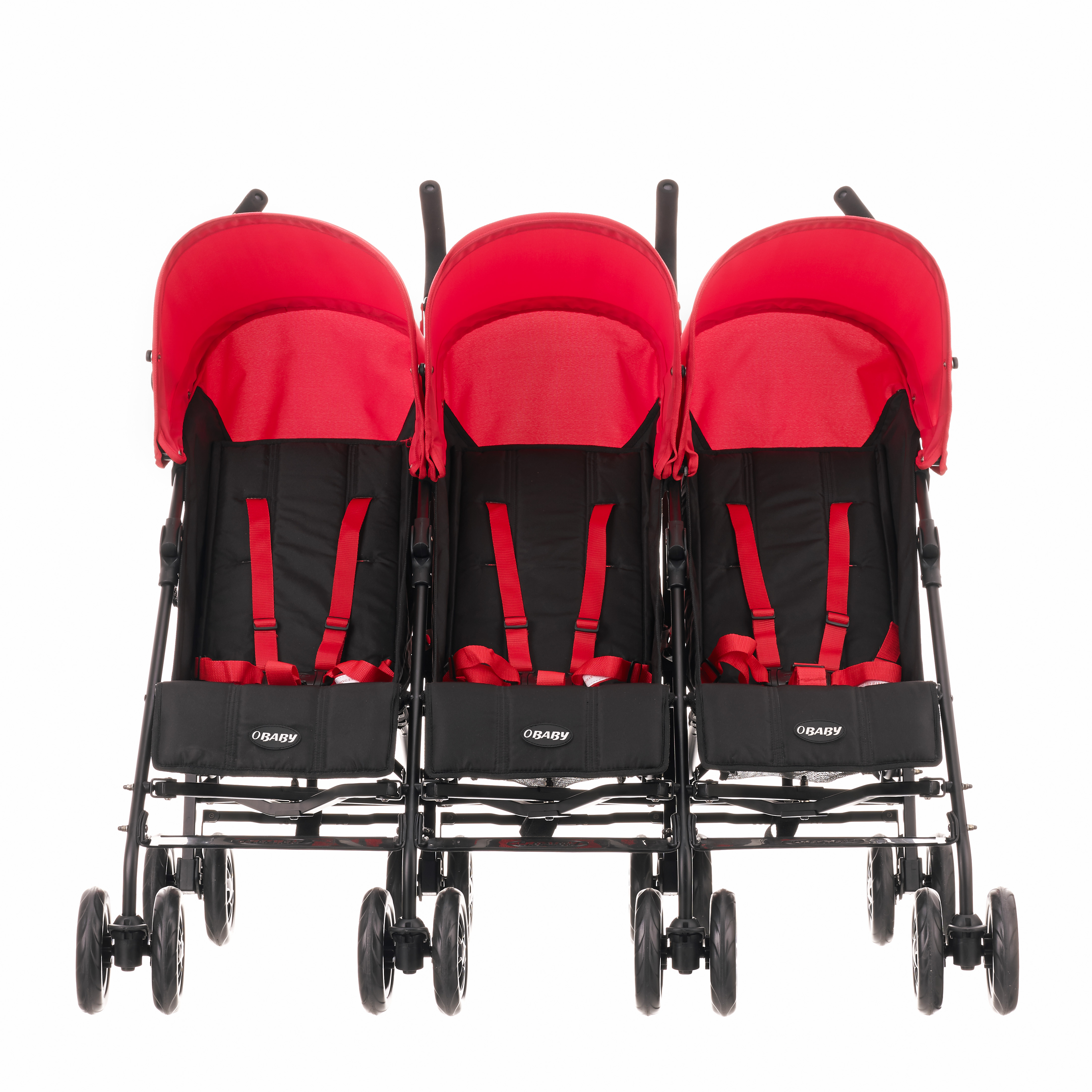 Obaby Mercury Triple Stroller (Black/Red): Amazon.co.uk: Baby