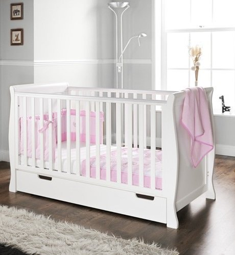 Obaby Sleigh Cot Bed And Under Drawer White Amazon Co