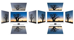 No colour shift appears with the PA248Q (right) compared to some conventional monitors