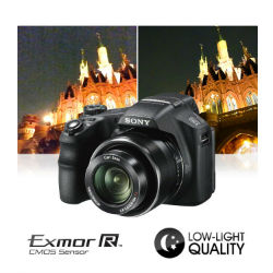 High sensitivity pro-style Exmor R CMOS sensor with 18.2 megapixels for unsurpassed pictures even in low light.