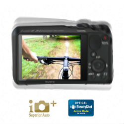 Optical SteadyShot for taking super stable handheld pictures while zooming in up to 20 times.