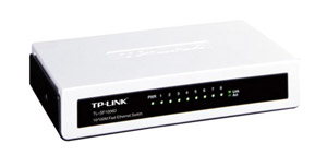 TL-SF1008D Fast Ethernet Switch provides 8 10/100Mbps Auto-Negotiation RJ45 ports