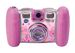 The Kidizoom Twist Plus features 2-megapixel cameras with 4 times digital zoom on both the front and the back.