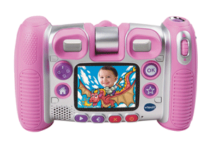 Children can choose from a range of functions including video and voice recording on the 2.2-inch colour screen.