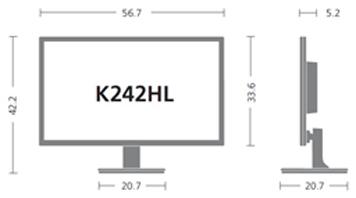 acer k242hlabid 24 1080p widescreen full hd led monitor hdmi computers accessories. Black Bedroom Furniture Sets. Home Design Ideas