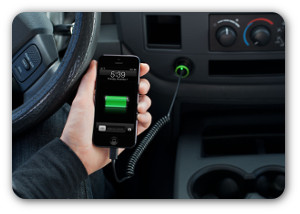 Charge your iPhone 5, iPad Mini, or iPad (4th generation) on the road