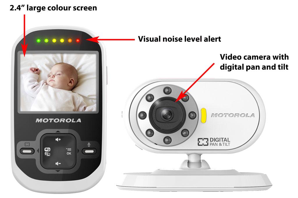 motorola mbp26 digital video baby monitor ebay. Black Bedroom Furniture Sets. Home Design Ideas