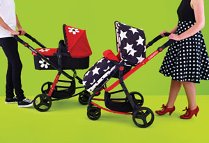 Giggle Travel Systems in All Star and Bizzy Betty