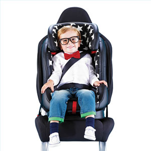 Young child using the Hug car seat