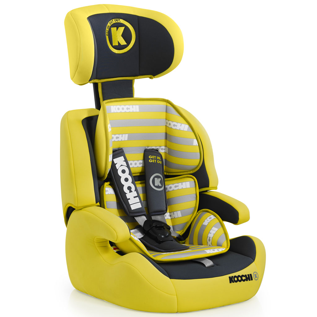 koochi motohero group 1 2 3 car seat primary yellow baby. Black Bedroom Furniture Sets. Home Design Ideas
