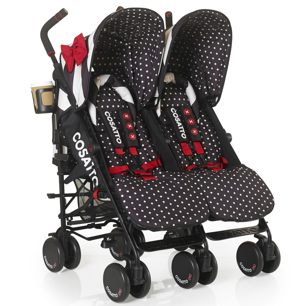 Cosatto Supa Dupa Twin Stroller Special Edition Go Lightly Black White Amazon Co Uk Baby