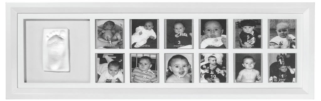Baby Art First Year Print Frame Classic White Amazoncouk Baby