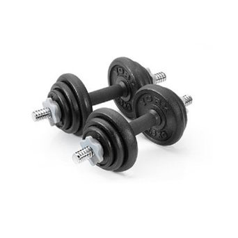 York 20kg Cast Iron Dumbbell Set