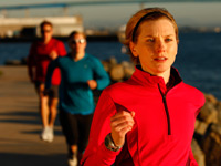 Forerunner 110: Easy to wear and view while running<
