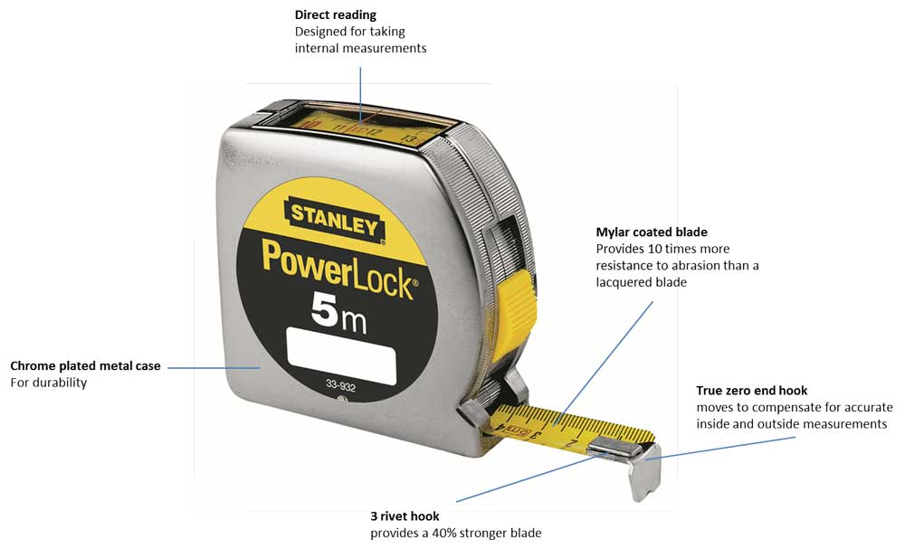 Brilliant Stanley 033932 Powerlock Tape 5M Top Reader Amazon Co Uk Diy Tools Wiring Digital Resources Dimetprontobusorg