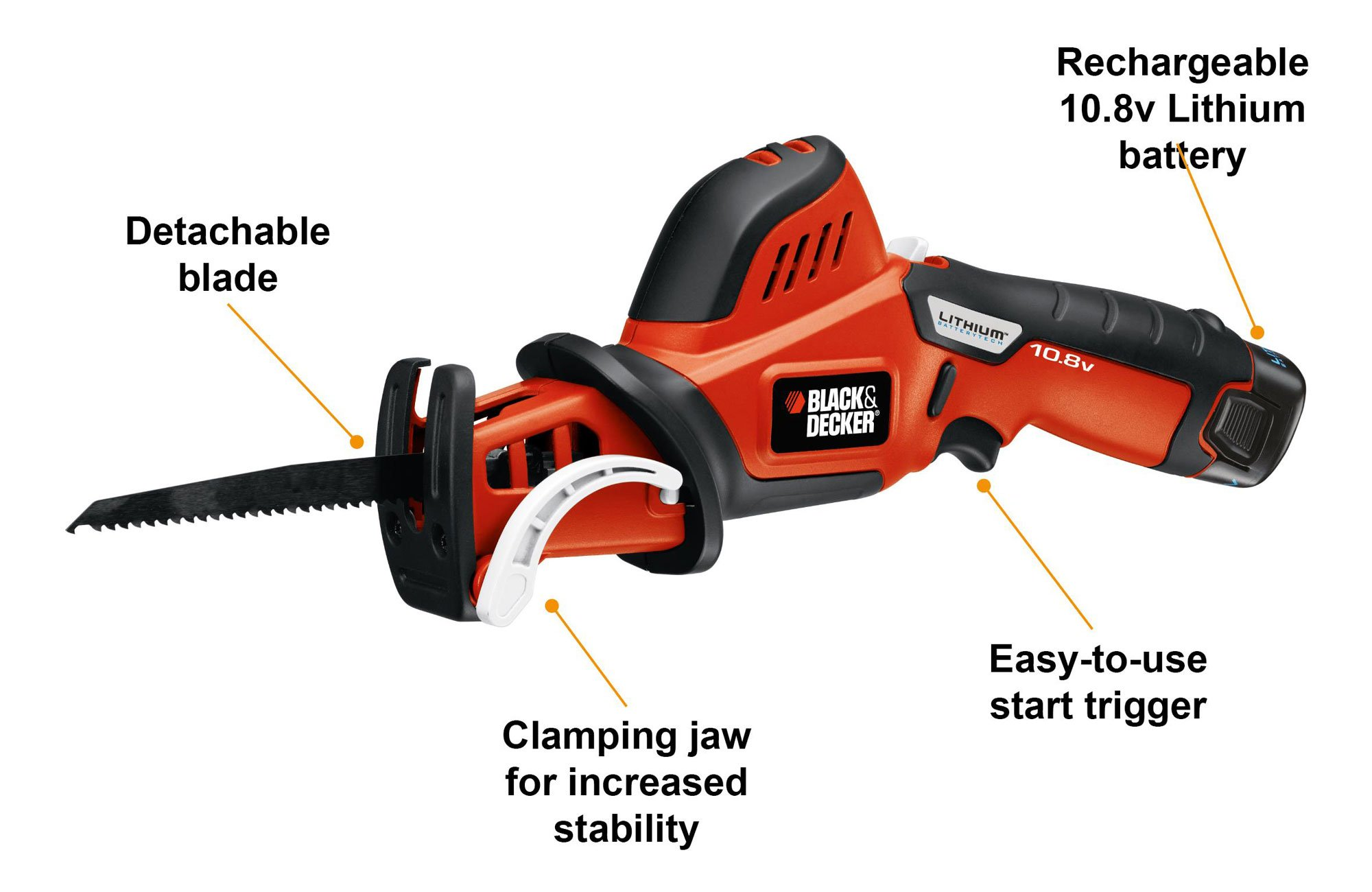 Black Decker 10 8 V Lithium Pruning Saw Amazon Co Uk Diy