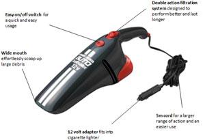 Black Decker Av 1205 Car Vacuum Cleaner Amazon Co Uk Car