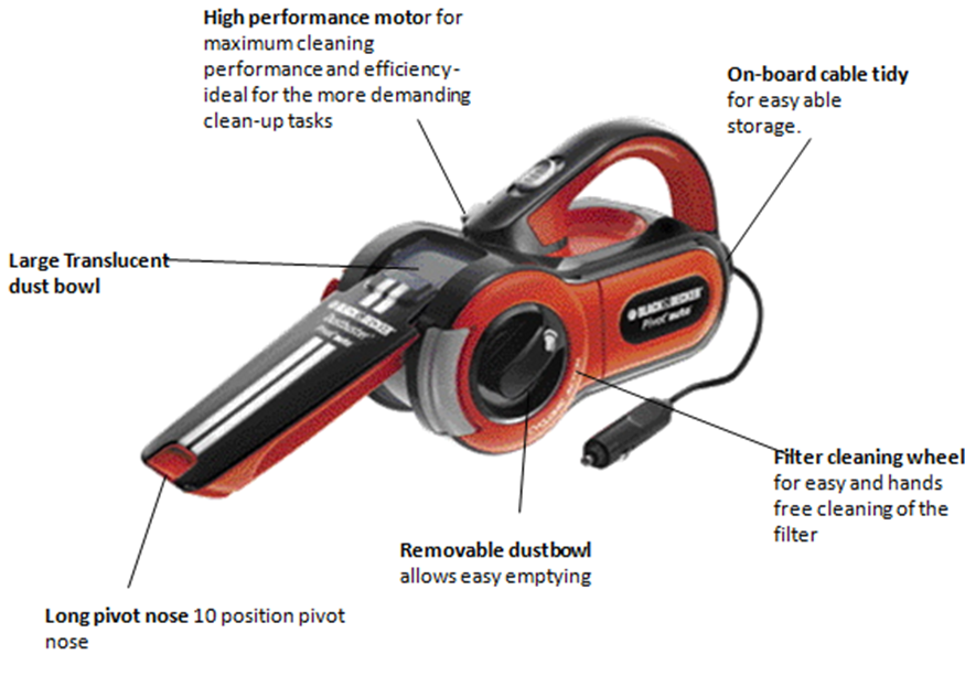 black and decker dustbuster pivot 12v manual