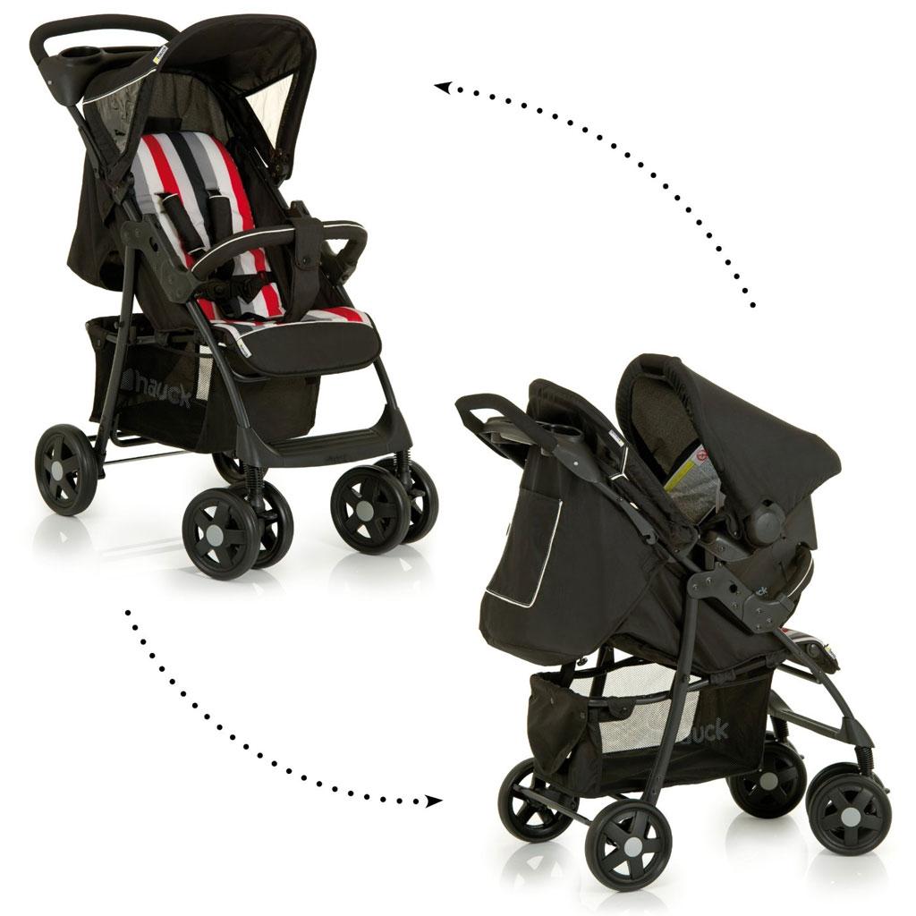 hauck shopper shop 39 n drive trio set rainbow black baby. Black Bedroom Furniture Sets. Home Design Ideas
