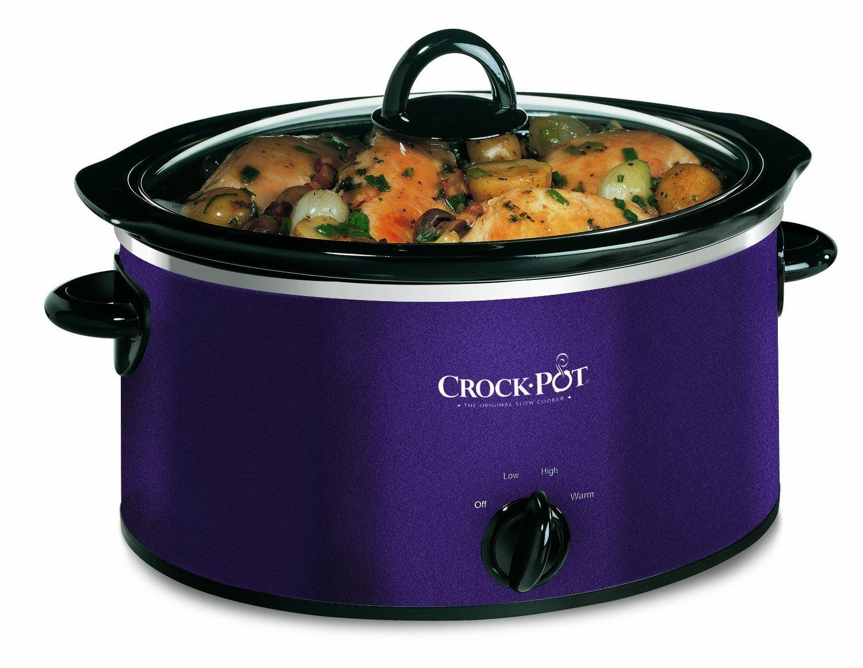 Crock pot scv400d aubergine 3 5 l slow cooker be proud to show off