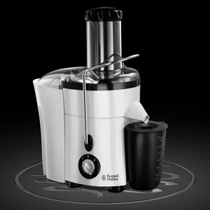 Russell Hobbs Aura Whole Fruit Juicer 20365, 550 W White