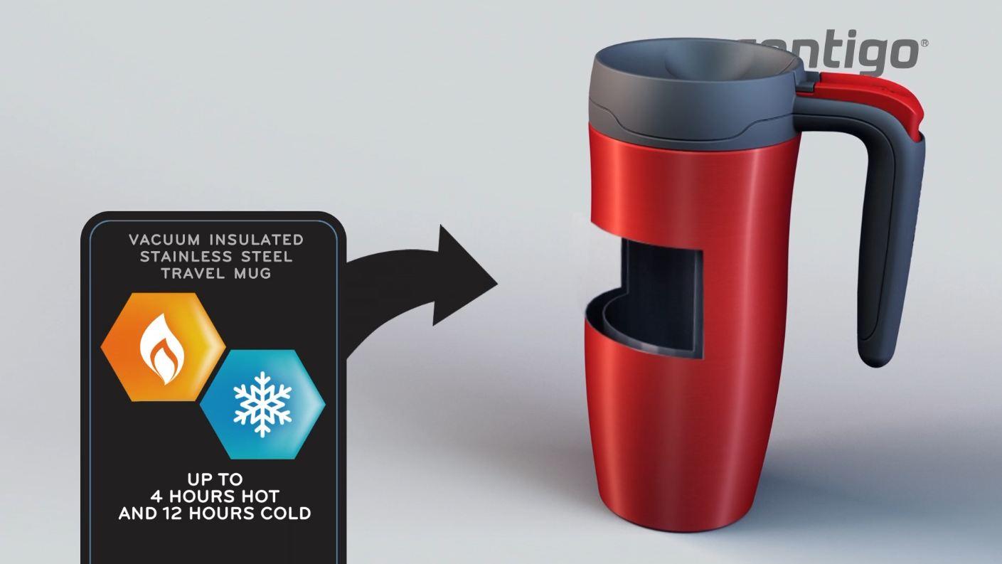 contigo fulton autoseal travel mug 360 ml gunmetal. Black Bedroom Furniture Sets. Home Design Ideas