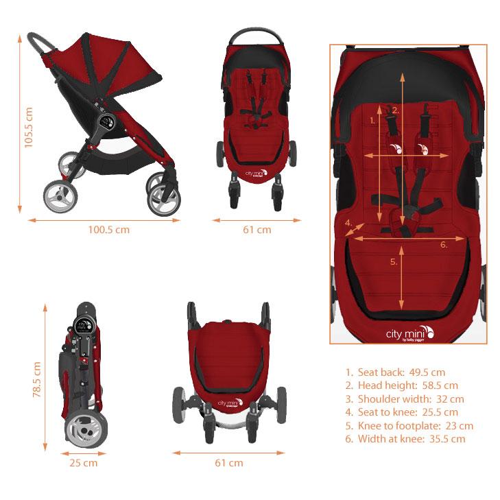 Baby Jogger City Mini 4 Wheel Crimson Amazon Co Uk Baby