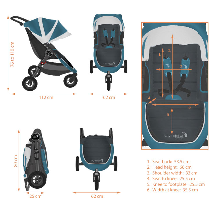 Baby Jogger City Mini Gt Single Black Amazon Co Uk Baby