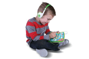 LeapPad in use with headphones